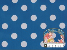 Tafelzeil blauw met witte polka dots