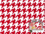 Everyday houndstooth red