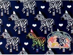Zebra softshell navyblauw