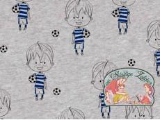 Voetballers blauw glitter tricot