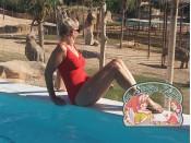 Effen rood badpakstof