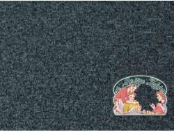 Grijsblauw japanees melange gebreid met coral fleece