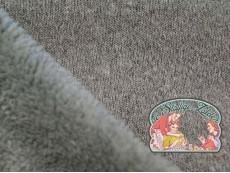 Grijs melange gebreid met coral fleece