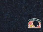 Navy japanees melange gebreid met fleece