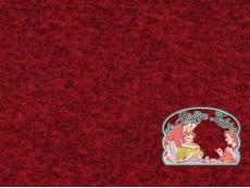 Rood japanees melange gebreid met fleece