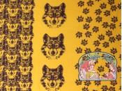 Ilja oranje wolf brushed jogging paneel