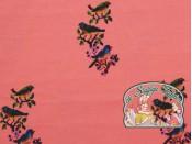 Mies&Moos vogeltjes borduur roos tricot