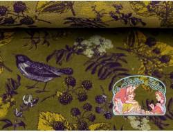 Mies&Moos autumn birds green velours