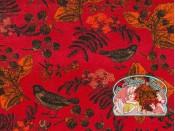Mies&Moos autumn birds red velours
