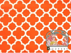 Quatrefoil cotton