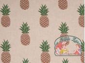 Emil ananas linnenlook canvas