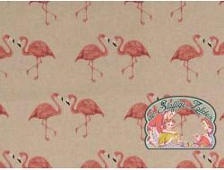 Emil flamingo koppeltje linnenlook canvas