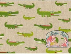 Emil krokodillen linnenlook canvas