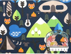 Camping fox navy