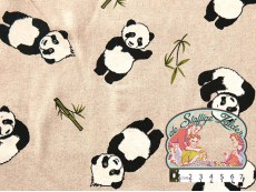 Panda linnenlook canvas
