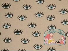 Blauwe ogen linnenlook canvas