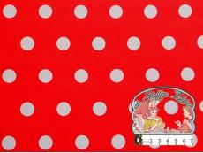 Geplasticifieerd katoen: polka dots rood