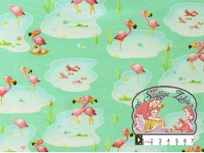Flamingo cuddling tricot mint