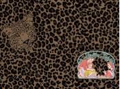Luchtig geweven luipaard jacquard