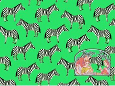 Little Explorers mint zebra cotton