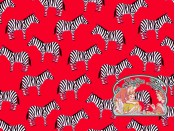 Little Explorers Red zebra cotton