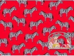 Little Explorers Red zebra cotton