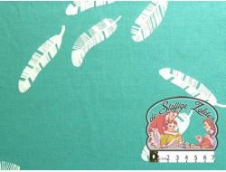 Pluimen tricot aquablauw