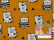Oker katten tricot