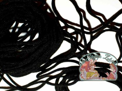 Mondmasker elastiek zwart ovaal 3mm prijs per meter