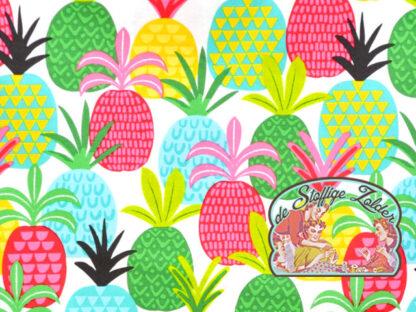 Tutti Fruitti pineapple white cotton