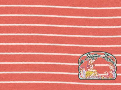 Stripes pink organic tricot