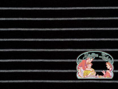 Stripes black organic tricot