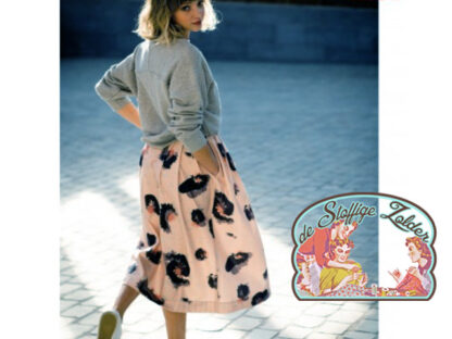 Leopard pink stretch cotton