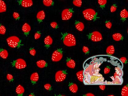 Strawberry black cotton