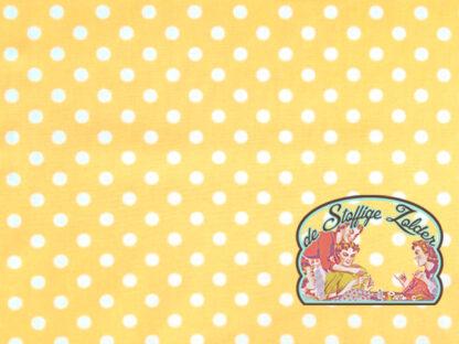 Polka dot yellow cotton
