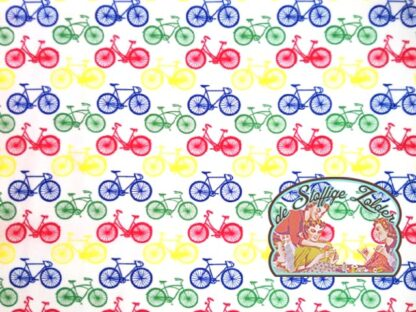 Cycling in colour white cotton