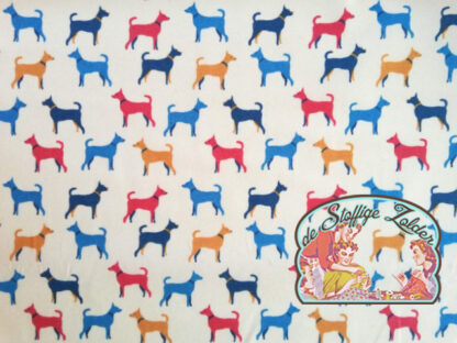 Dog pastel white cotton