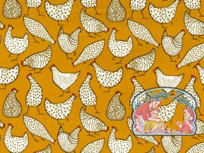 Chickens ochre cotton