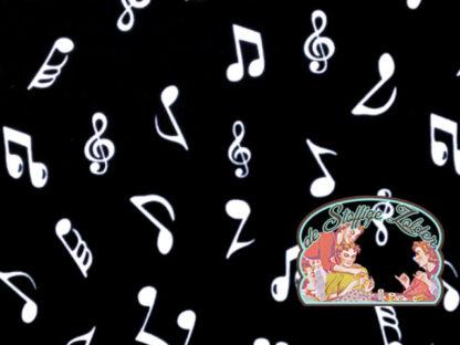 Music notes black cotton