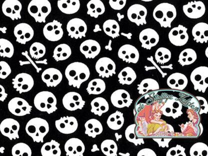 Skulls polycotton voile white