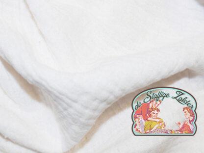 Effen wit tetra babykatoen