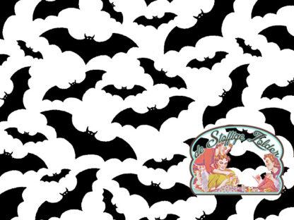 Bats polycotton voile white
