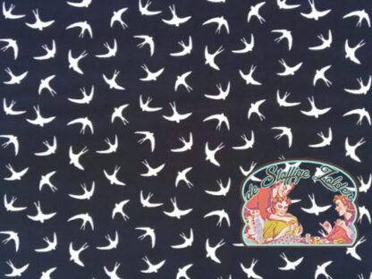Swallow navy cotton