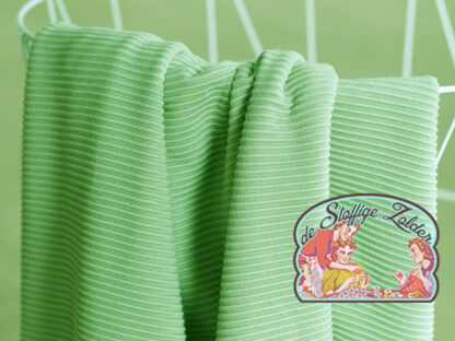 Self-stripe ottoman knit mint