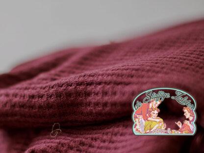 Viscose waffle knit bordeaux