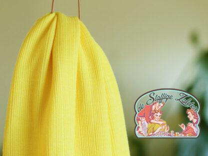 Flashing yellow viscose trim knit