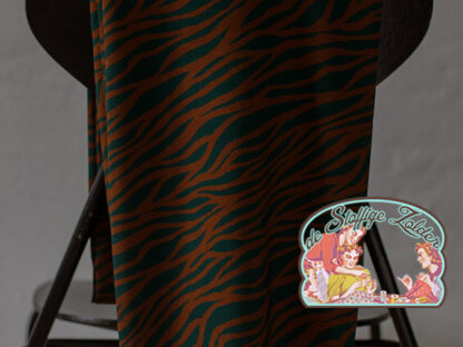 Viscose plain zebra teal rust