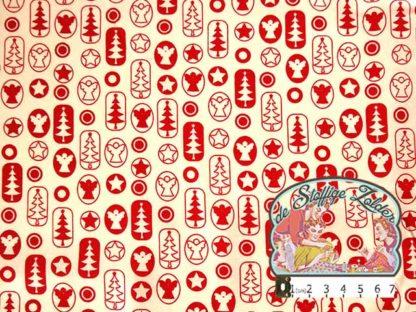 Joyful Christmas red cotton