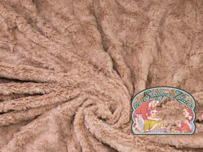 Camel pink fake fur