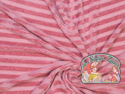 Knit pink stripes